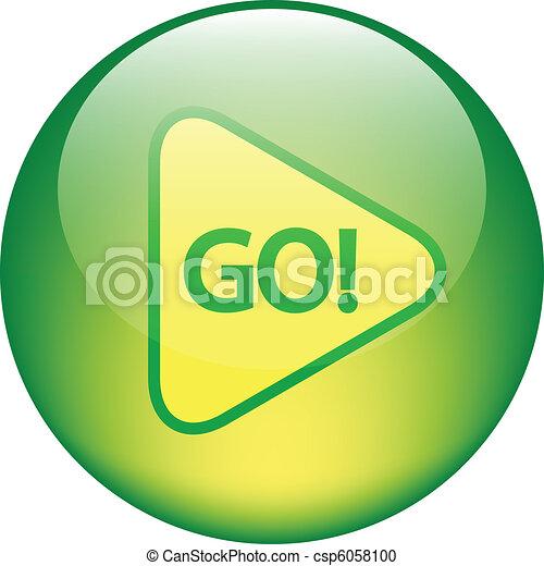 "glossy ""GO"" button - csp6058100"