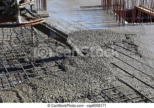 Pouring Concrete - csp6058171