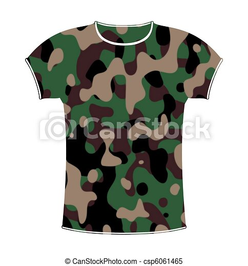 Camouflage T-shirt - csp6061465