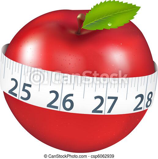 Apple With Measurement - csp6062939