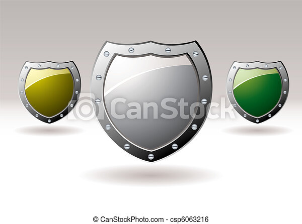 Metal shield icon collection - csp6063216