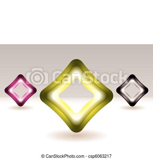 Illuminated square icon concept - csp6063217