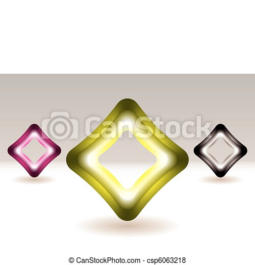 Illuminated square icon concept - csp6063218