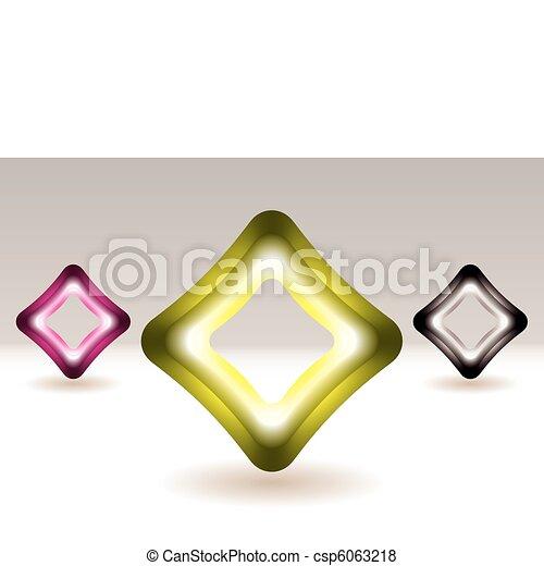 Illuminated square icon concept - csp6063218