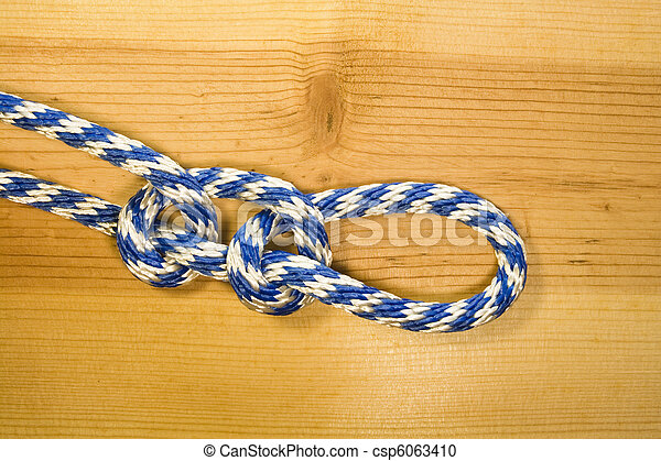double half hitch knot - csp6063410