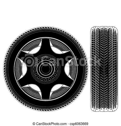 Car Wheel Tire  - csp6063669