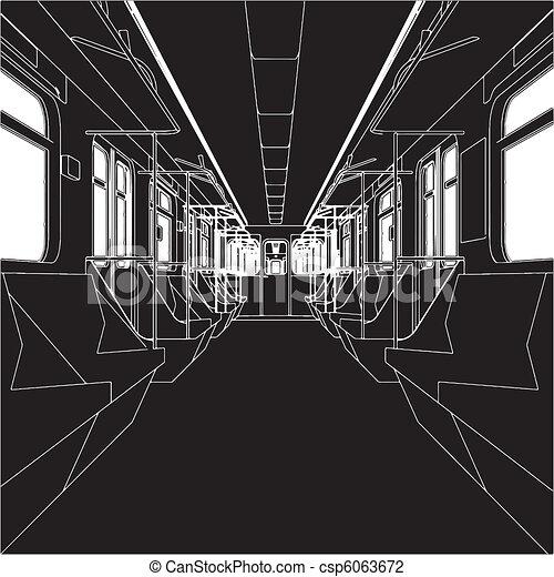 Inside Of Metro Train Wagon - csp6063672