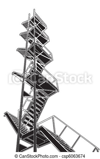 A Fire Escape Stairs - csp6063674
