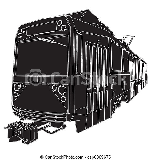 Tram Trolley - csp6063675