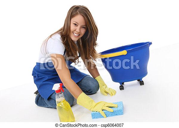 Cute Woman Maid - csp6064007