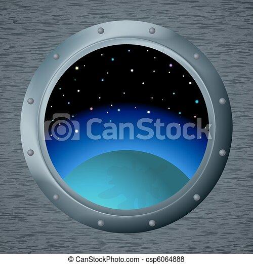 vecteur de fen tre espace spaceship fen tre hublot espace csp6064888 recherchez. Black Bedroom Furniture Sets. Home Design Ideas