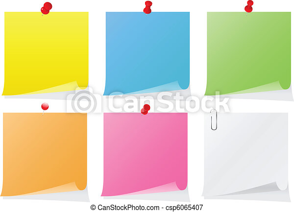 Vector Post-it Notes - csp6065407