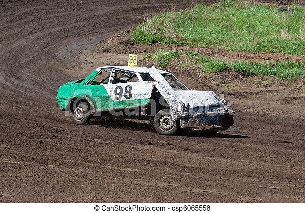 Race for survival. Broken car - csp6065558