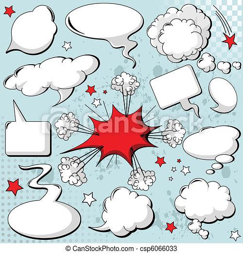 Comics style speech bubbles - csp6066033