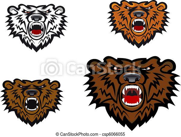 Wild bear tattoo - csp6066055
