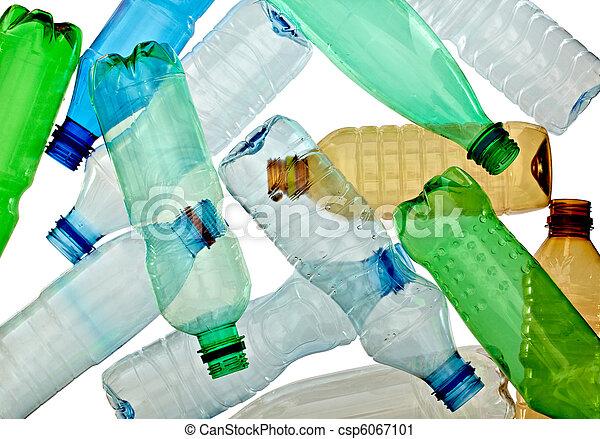 empty used trash bottle ecology environment - csp6067101