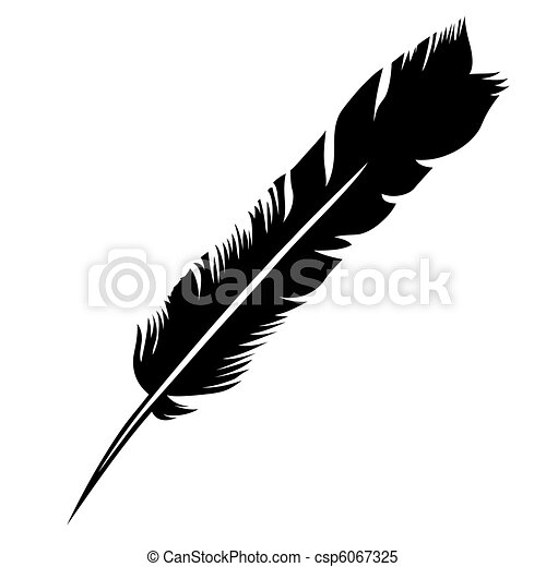 vector silhouette pen on white background - csp6067325