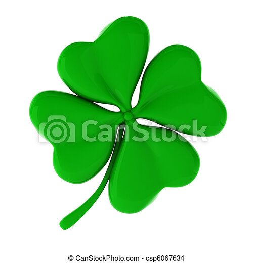 3d render of green clover - csp6067634