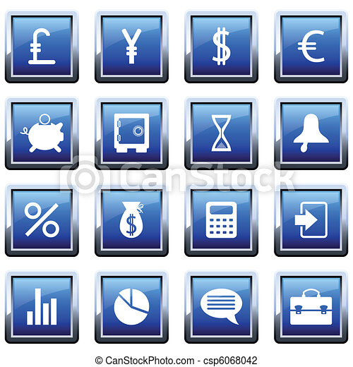 financial icon set - csp6068042