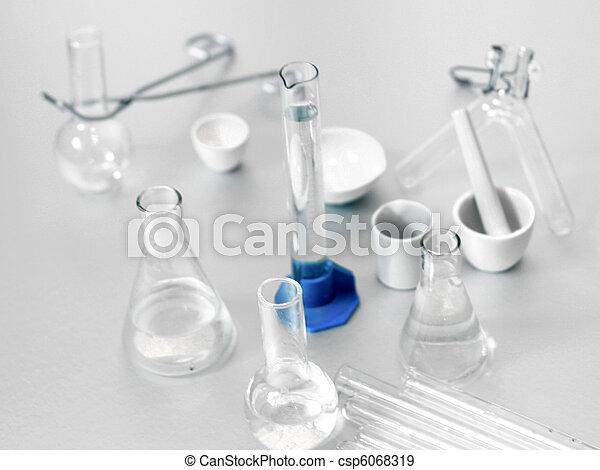 set chemical test tube