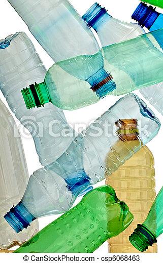 empty used trash bottle ecology environment - csp6068463