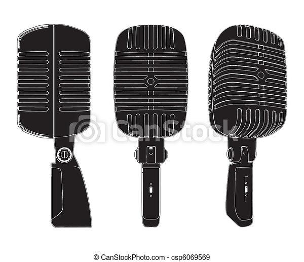 Retro Microphone - csp6069569