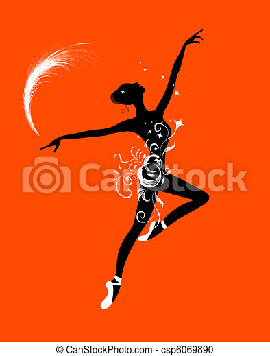 Ballet dancer for your design - csp6069890