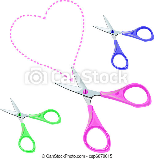 vector colorful scissors on a white background - csp6070015