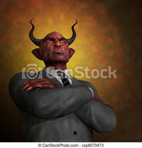 The Arrogance of Evil - csp6070473