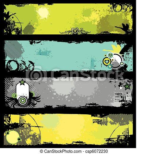 Grunge stylish bunners 3. - csp6072230