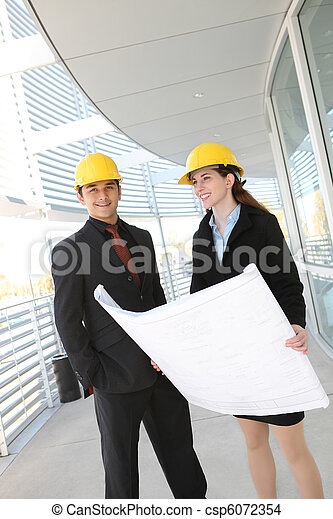 Business Team at Office Construction Site - csp6072354