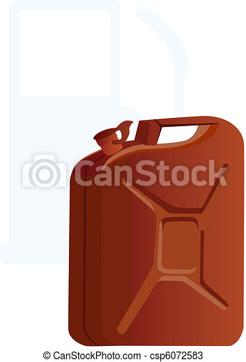 Canister of gasoline - csp6072583