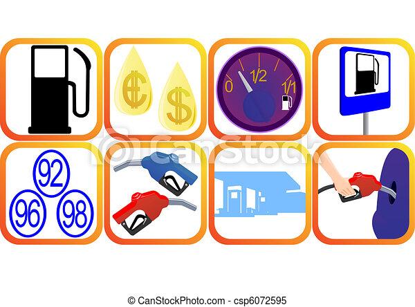 Petrol icons - csp6072595