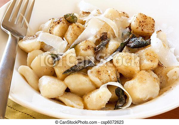 Potato Gnocchi with Sage Butter - csp6072623