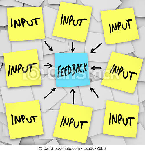 input and feedback sticky note clip art instant