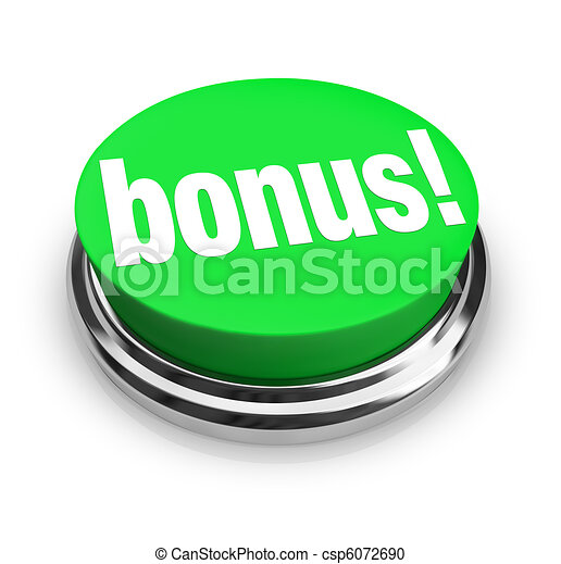 Bonus Word on Green Button - Added Extra Value - csp6072690