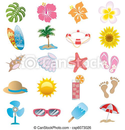 Summer icons set - csp6073026