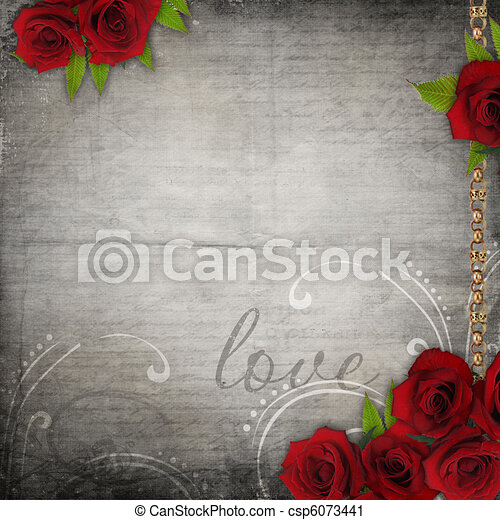 Bronzed vintage frames on old grunge background (1 of set) - csp6073441