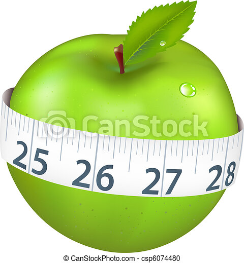 Green Apple With Measurement - csp6074480