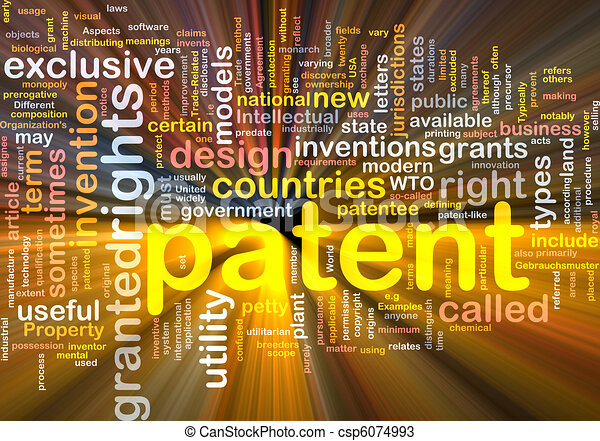 Patent is bone background concept glowing - csp6074993