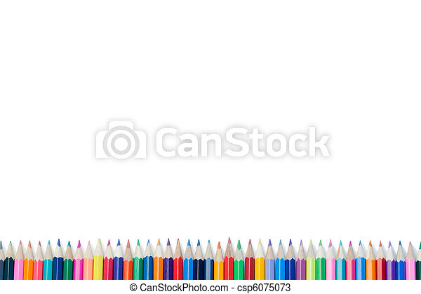 High part of color pencils - csp6075073
