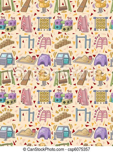 seamless playground pattern  - csp6075357