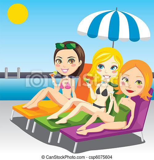Women Sunbathing - csp6075604