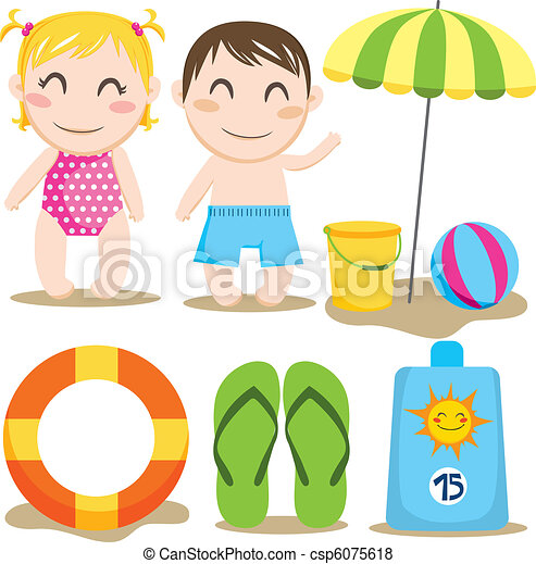 Bebé niña playa vector Imágenes y almacen de fotos. 155 Bebé niña ...