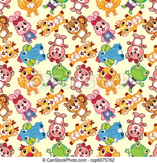 seamless animal pattern - csp6075762