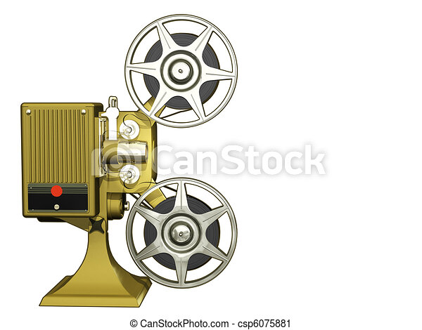 Clipart of Projector film - Render of projector film isolated ...