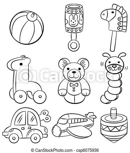 vecteur dessiner jouet main bb dessin anim icne