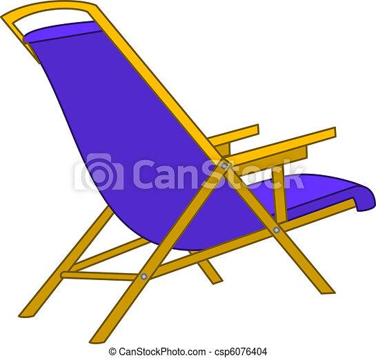Beach chaise lounge - csp6076404