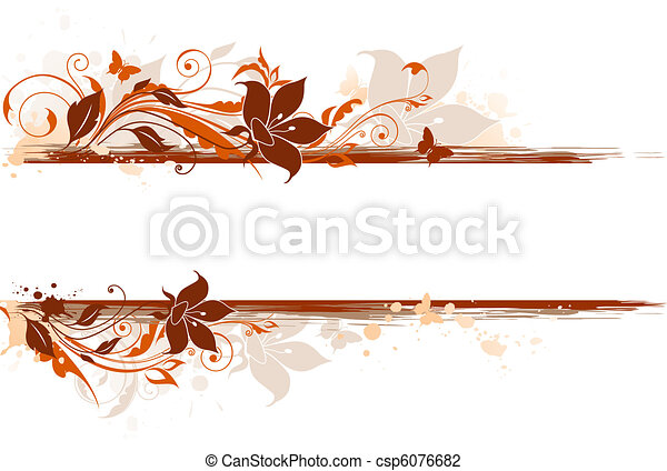 floral background with tulip and ornament - csp6076682