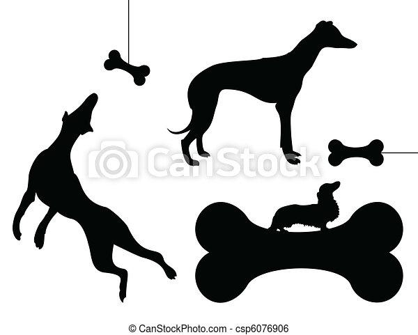 Dog and a bone - csp6076906